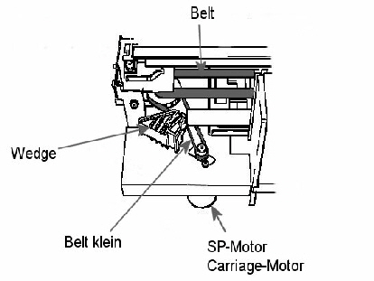 DesignJet Wedge Belt Motor