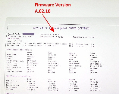 hp designjet 500-800 series firmware update